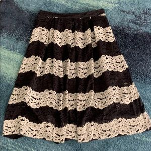 Who What Wear Lace Pleated Midi Skirt